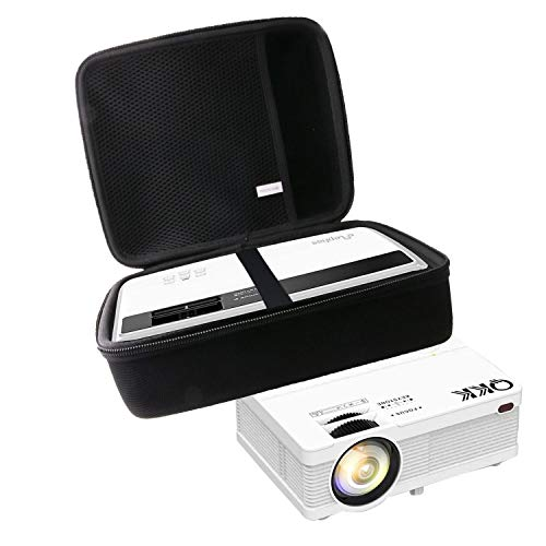 waiyu Hard Carrying Case for QKK Mini Projector 5500/CiBest Projector4500 lux LED Portable Home Theater Projector