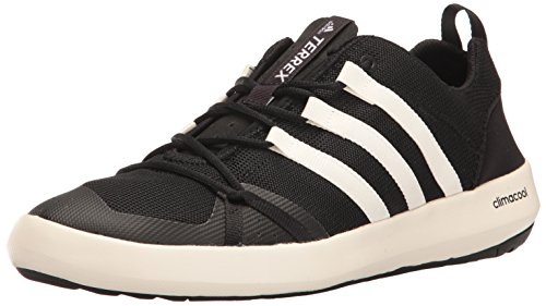 adidas outdoor Men's Terrex Climacool Boat Water Shoe, Black/Chalk White/Black, 9.5 M US