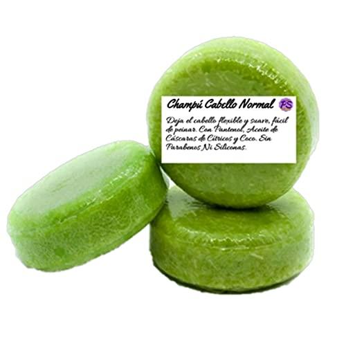 Champú Sólido Natural para Cabellos Normales - Contiene Aceite de Cáscaras de Cítricos y Aceite y Extracto de Coco - 55 g