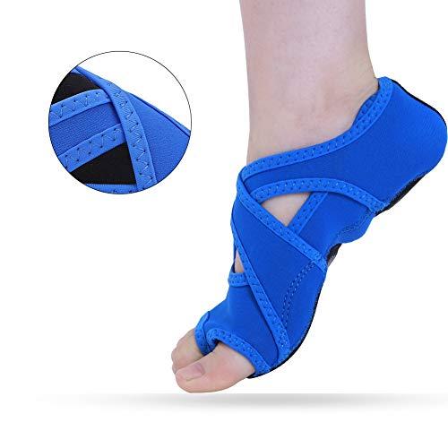 Tbest Yoga Sokken, anti-slip yoga schoenen, yoga wrap schoenen, yoga pilates sokken met tenen soft wrap barre dance training schoenen met handgrepen voor Pilates balletbarre studio mannen vrouwen