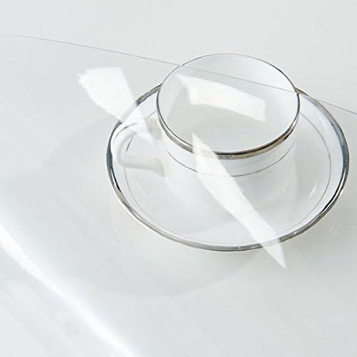 Minimalistischen Modernen Kaffeetischen Pad Transparent Gefrostet Rechteckige Isolator Pvc Wasserdicht Weißhen Kunststoff Tischdecke, Transparentes Glas, 1,5 Mm, 9090 Cm.