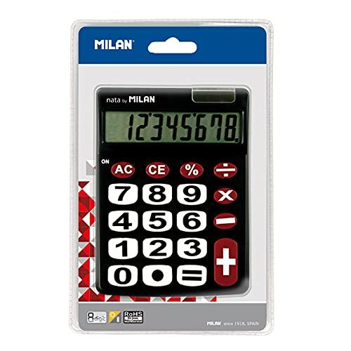 Blíster calculadora Negra 8 dígitos