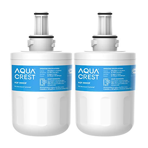 AQUACREST DA29-00003F Kühlschrank Wasserfilter, Kompatibel mit Samsung Aqua Pure Plus DA29-00003F, HAFIN1, DA29-00003A, DA29-00003B, DA29-00003A-B, DA61-00159A, DA97-06317A (2)