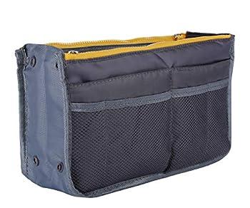 Lady Women Travel Insert Handbag Organizer Purse Large Liner Organizer Tidy Bag  13 Pockets Medium Size