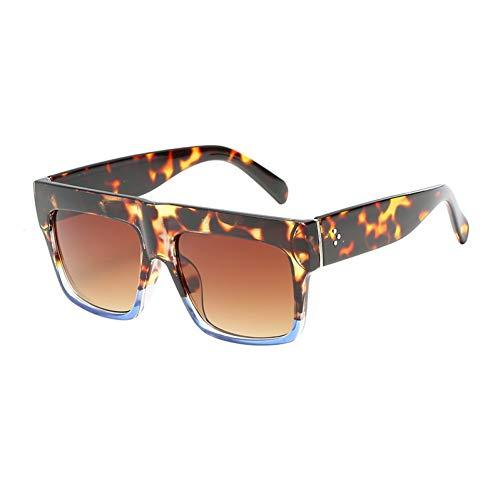 YLNJYJ Gafas De Sol Diseñador De La Marca De Moda Vintage Lady Square Sunglasses Mujeres Kim Kardashian Remache Gafas Gafas De Sol Planas