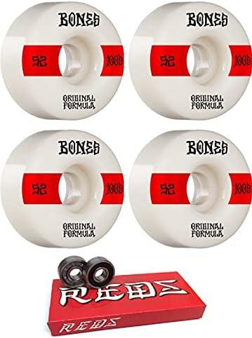 Bones Wheels 52mm 100's OG El Paso Mall V4#14 Red White Cheap super special price 1 - Skateboard