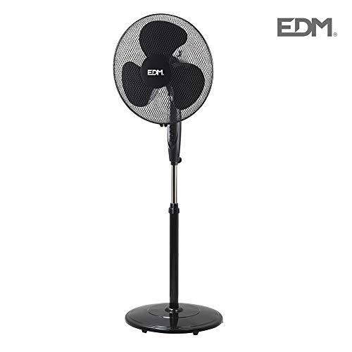 Staande ventilator, Ø 40 cm, zwart, 45 W, in hoogte verstelbaar, Black Series
