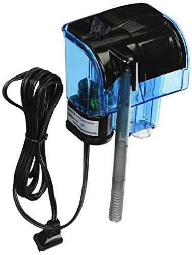 Penn Plax Cascade 20 Power Filter – Mini Hang-On Filter with Quad Filtration – Great for Freshwater and Saltwater Setups