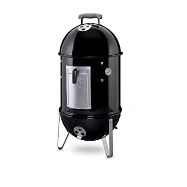 Weber 711001 Smokey Mountain Cooker 14-Inch Charcoal Smoker, Black