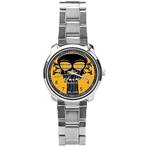 LHM Rock and Roll - Reloj de pulsera para hombre y niño, acero inoxid