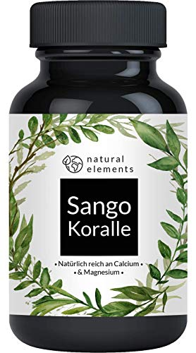 Sango Meereskoralle - 180 Kapseln - Natürliche Calcium- und Magnesiumquelle - Laborgeprüft, ohne Magnesiumstearat, hochdosiert und hergestellt in Deutschland