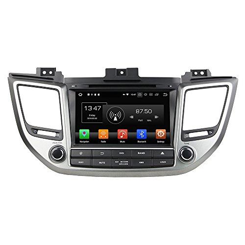 Kunfine Android 9.0 Octa Core DVD de Voiture Navigation GPS Lecteur multimédia stéréo de Voiture Hyundai Tucson/ix35 2015 2016 2017 Autoradio Commande au Volant 3 G WiFi Bluetooth Carte SD Gratuit
