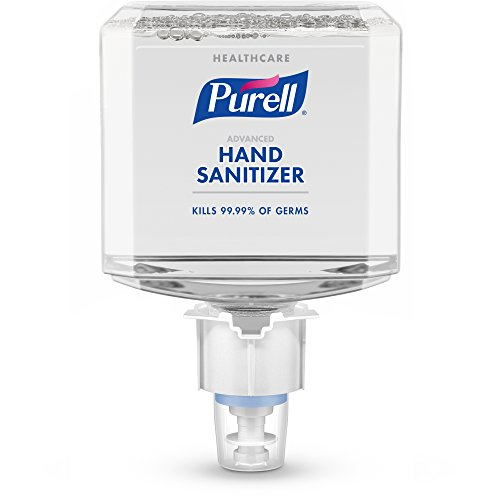 PURELL ES4 Healthcare Advanced Hand Sanitizer Foam Refill, 1200mL Sanitizer Refill for PURELL ES4 Push-Style Dispenser (Pack of 2) - 5053-02