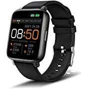 Smart Watch for Men Women, Fitness Tracker 1.69'' Full Touch Screen Smartwatch with Heart Rate Monitor, Sleep Monitor, Stopwatch, Pedometer, IP68 Waterproof Activity Tracker Compatible for Android IOS