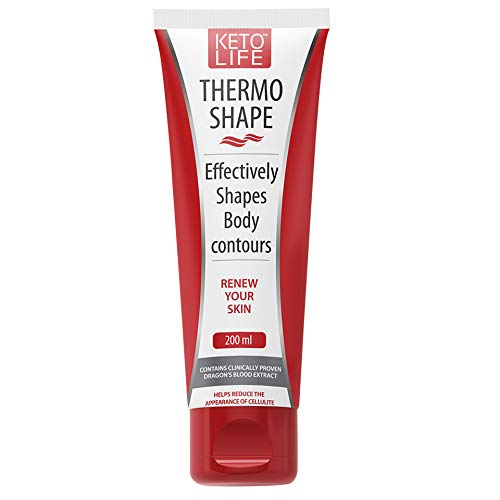KetoLife Thermo Shape Active Hot Slimming & Fat Burning Gel, Formulated to Fight Fat on Belly, Thighs, Buttocks & Arms, Smooth Cellulite, Effectively Shapes, Body Contours 6.7oz