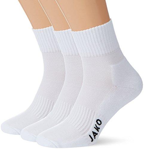 JAKO Sportsocken 3er Pack, Weiß, 3 (47-50)