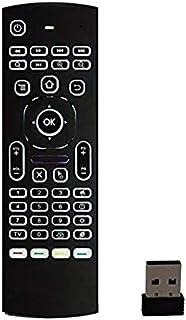 Android TV BOX/UBOX/Amazon Fire TV 対応 2.4GHz 無線 エアマウス キーボード付きリモートコントローラー MX3(赤外線リモコン学習機能付き)【バックライト搭載モデル】