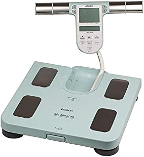 Omron Digital Personal Scale, Body Weight and Amount of Fat Body and Abdomen, Up to 150 kg, Turquoise - BF511