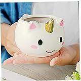 3D animale Tazza sveglia di ceramica tazze di caffè Bella dipinto a mano Idea regalo delle donne tazza di ceramica Arcobaleno Horse Coffee tazze regalo per la ragazza