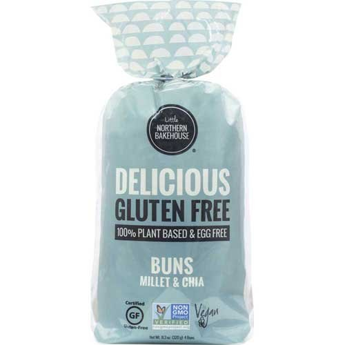 Little Northern Bakehouse Millet and Chia Gluten Free Hamburger Bun, 11 Ounce -- 6 per case.