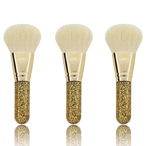 MPKHNM Single Crystal Glitter Handle Powder Brush Powder Brush Blush Brush Makeup Brush Beauty Makeup Tool White Real Wool