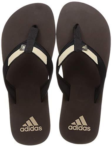 Adidas Men's Adirio Attack 2 Ms Brown/Core Black/Natural Beige Slippers-8 UK (CM6094)