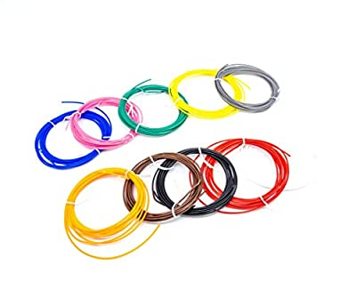 SCRIB3D 3D Printing Pen ABS Plastic Filament Refill Pack (10 Assorted Colors, 3m Each)