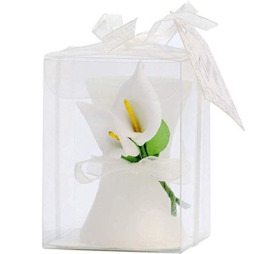 24 Pack Wedding Favors Bridal Shower Favors Candles Calla Lily Style Candle Favors Gift Boxed with Thanks Cards Return Gifts Wedding Party Favors for Guests Return Gifts Keepsakes Giveaways
