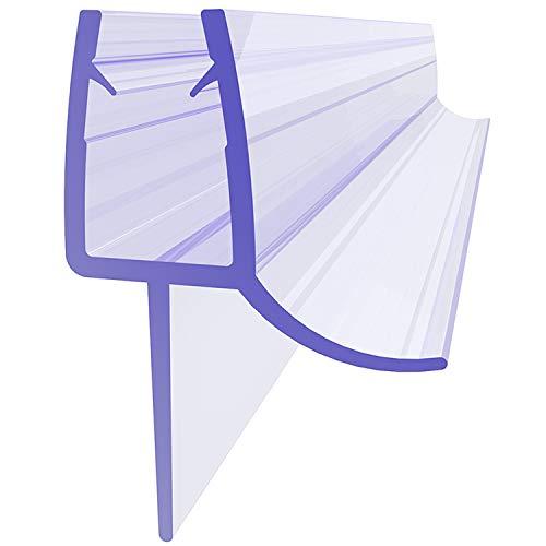 SONNI Duschdichtung 90cm Ersatzdichtung Dichtung für 5mm/ 6mm Glasstärke Gummidichtung Dusche Dichtlippe PVC Dichtung mit Wasserabweiser