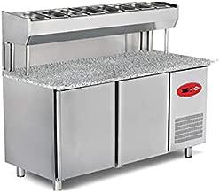 Empero EMP.150.80.01-PSYG Pizza ve Salata Hazırlık Buzdolabı - Granit tablalı - 2 Kapılı