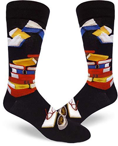 ModSocks Men's Bibliophile Men's Crew Socks in Black