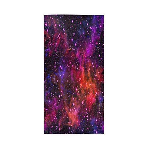 Funnyy Universe Galaxy - Toallas para el rostro estrellado de nebulosa y muy absorbentes, paños gruesos, toallas multiusos para baño, hotel, spa, cocina, invitados