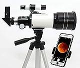 Telescopio per astronomia, Starter Scope con supporto per osservazione stellare per bambini, portatile e ingrandimento 150X ad alta definizione e calibro 70 mm.
