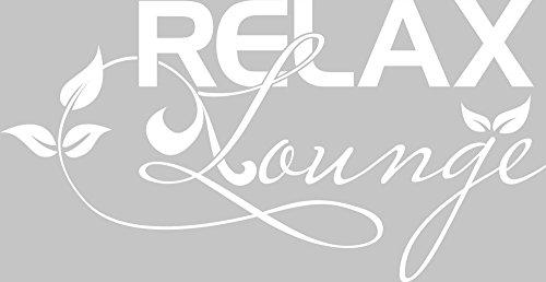 GRAZDesign Fliesen Dekorfolie Bad Relax Lounge - Wandbild WC Bad verschönern Blumen Ranke - Wandtattoo Bad WC Schild / 58x30cm / 650217_30_010
