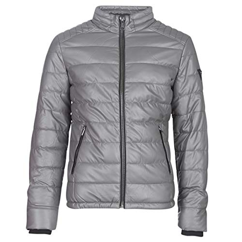 Guess Stretch Pu Quilted Jacken Herren Grau - M - Lederjacken/Kunstlederjacken Outerwear