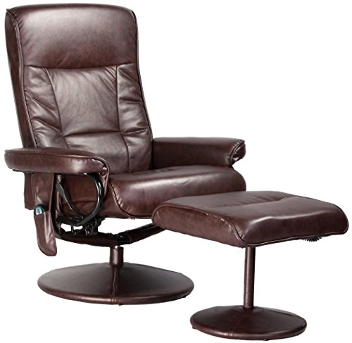 Relaxzen Leisure Recliner Chair with 8-Motor Massage & Heat,...