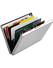 Stealodeal Waterproof RFID Protection Card Holder Metal Wallet (Shine Silver)