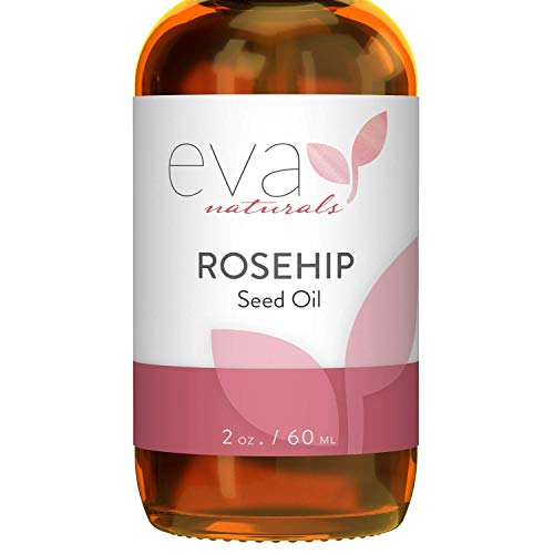 Eva Naturals Pure Rosehip Seed Oil (2oz) - Natural Face Serum Aids Stretch Mark and Acne Scar Removal - Reduces Inflammation, Boosts Collagen Production for Radiant Skin - Premium Quality, Unrefined