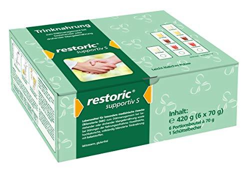restoric supportiv S Trinknahrung - Eiweißreich - Hochkalorisch - Pulver zum Anschütteln als Shake - 2x Vanille, 2x Neutral, 1x Schokolade, 1x Erdbeere