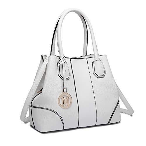 Miss Lulu Borsa a spalla Design elegante Maniglia superiore Borse di moda per donne (bianca)