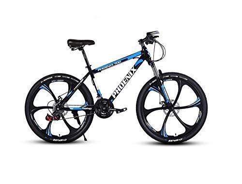 DGAGD Bicicleta de montaña de 24 Pulgadas Bicicleta de Velocidad Variable Bicicleta Adulta Ligera Tipo A de Seis Ruedas-Azul Negro_27 velocidades