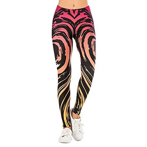 YELLAYBY elástico Yoga polainas impresión de la hoja de yoga pantalones de las mujeres de cintura alta energía sin fisuras polainas Deporte Mujeres Fitness Gym polainas delgadas bragas Elevación delga