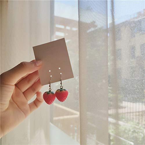 Cngstar Fruit Strawberry Earring Female Beautiful Girl Simulation Red Strawberry Dangle Earring for Women Jewelry…
