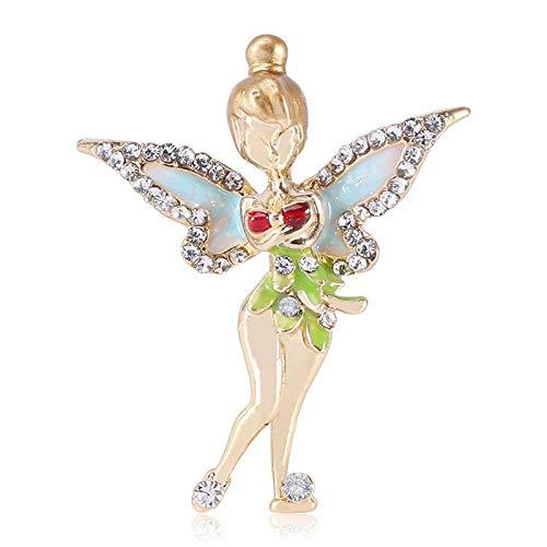 YXYSHX Broche de Elfo de Moda Joyas con Imagen de ángel