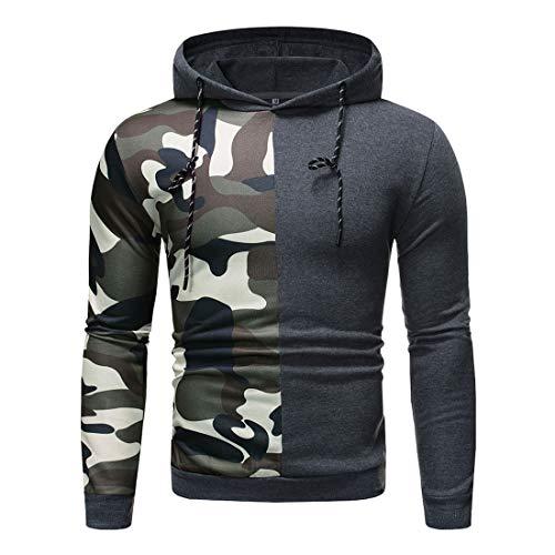 PRJN Mens Pullover Fleece Sweatshirt Camouflage Hoodies Mens SleeveLong Sleeve Pullover Hoodies t Shirts Mens Pullover Fleece Hoodie Camouflage Hoodie Mens Long Sleeve Pullover Hoodie