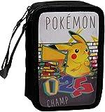CYP BRANDS- Plumier 3 Pisos con Material Escolar Pokémon Estuches, Multicolor (EP-333-PK)