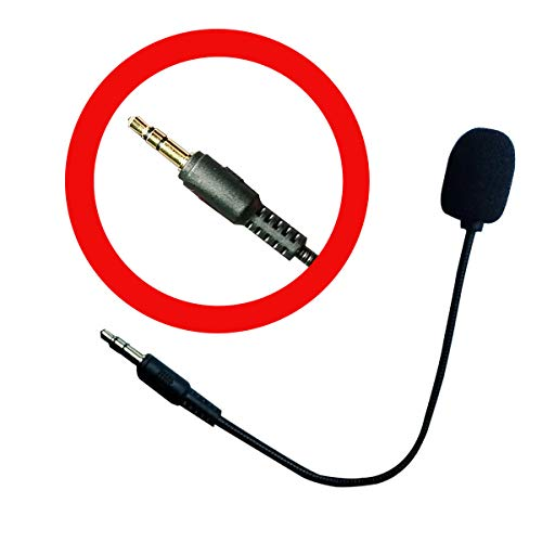 XBC Tech Ersatz-Mikrofon Boom Mic 3,5 mm kompatibel für Kopfhörer Turtle Beach Ear Force Xbox One PS4 Nintendo Switch Mac PC Gaming Kopfhörer
