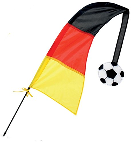 KarnevalsTeufel Windfahne Fan Deutschland Fanartikel schwarz-rot-Gold