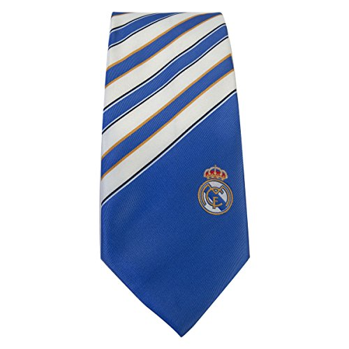 Real Madrid FC TIE ST - Authentic, Licensed TIE - Great Blue/White Design - Features Team Crest ON Front - Makes A Great Gift - Perfect Any Real Madrid Soccer Fan - Order Yours Today