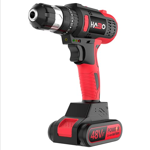 SXTYMV Hammer Drill Brushless Impact Drill Cordless Pistol Drill Lithium Electric Drill Multi-Function Household Electric Screwdriver